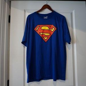 Under Armour Blue Superman Tshirt Men's XL